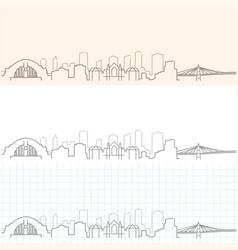 Cincinnati hand drawn skyline vector