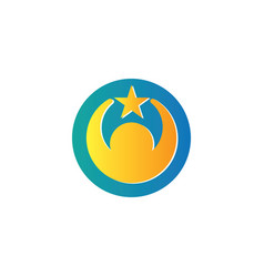 circle human star logo vector image