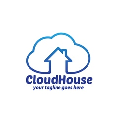 Cloud House Logo vector