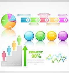 colorful infographic elements vector image