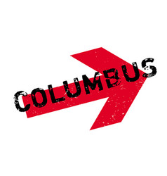 Columbus rubber stamp vector