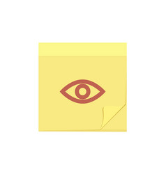 comment eye message note task view icon vector image