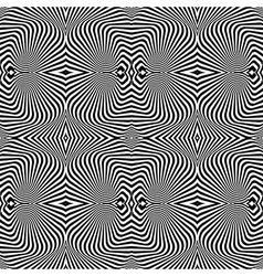 Design seamless uncolored vortex pattern vector image