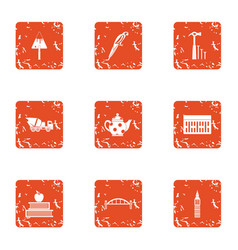 Documentation of repair icons set grunge style vector