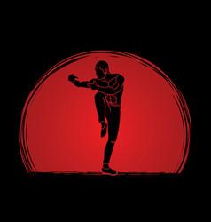 Drunken kung fu pose vector