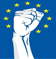 EU fist vector