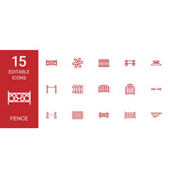 fence icons vector image