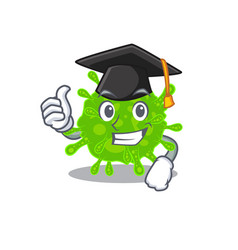 Flaviviridae with hat for graduation ceremony vector