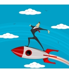 Flying Businessman success vector image