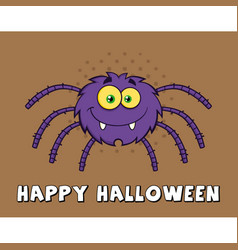funny spider cartoon character vector image