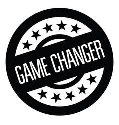 Game changer stamp on white vector