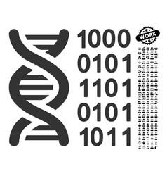 genetical code icon with men bonus vector image