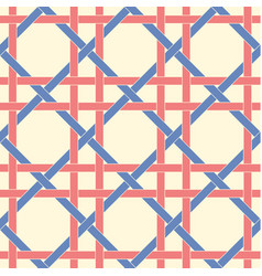 Geometric seamless pattern background with weave vector