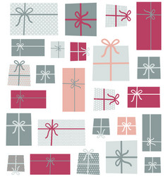 gifts seamless pattern background vector image