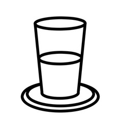 glass of water flat design vector image