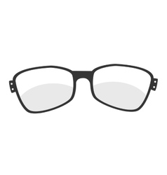 glasses vintage retro hipster isolated vector image