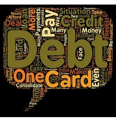 How To Pay Off Debt text background wordcloud vector image