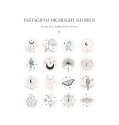 Instagram highlight story templates crescent vector
