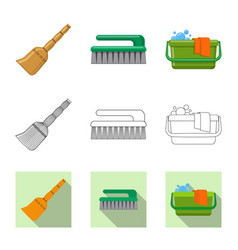 isolated object of cleaning and service logo vector image