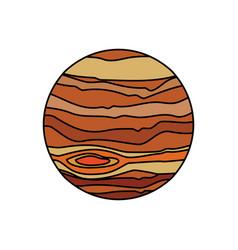 Jupiter planet system solar vector
