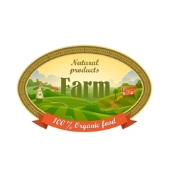 Lable for organic farming products vector