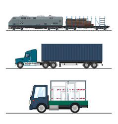 Land freight of goods vector