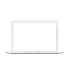 Laptop computer mockup portable pc realistic vector