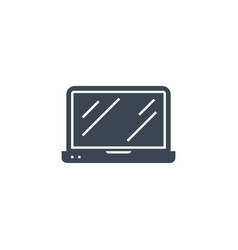 laptop flat related glyph icon vector image