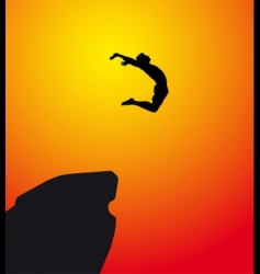 leap of faith vector image vector image