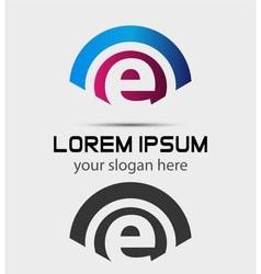 Letter E Logo Design Creative Symbol of letter E vector image