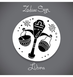 Libra zodiac sign of horoscope circle emblem in vector image vector image