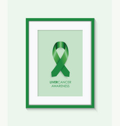 Liver cancer awareness frame vector