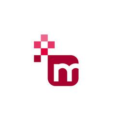 M font template design vector