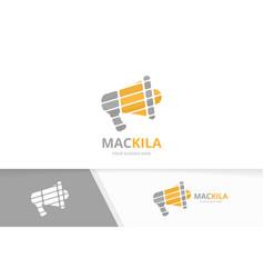 Megaphone logo combination bullhorn symbol vector