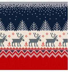 merry year seamless pattern border vector image