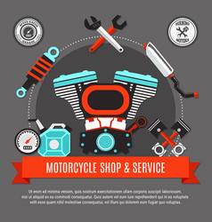 Motorcycle shop and service vector
