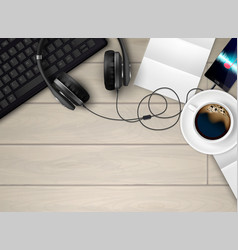 music in office composition vector image