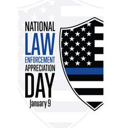 National law enforcement appreciation day lead vector