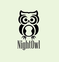 night owl logo vector image