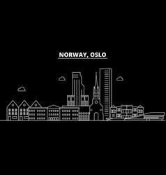 Oslo silhouette skyline norway - oslo city vector