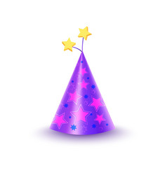 paper festive cap with stars isolated vector image