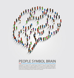 people symbol brain vector image