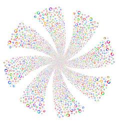 Pie chart fireworks swirl flower vector