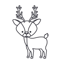 Reindeer cartoon of Christmas season design vector