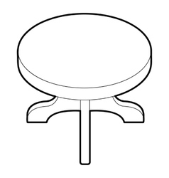 Round table icon isometric 3d style vector
