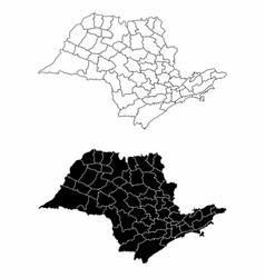 Sao paulo state maps vector