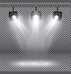 scene illumination effects with spotlights on vector image