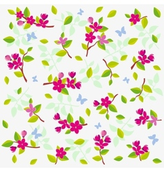seamless background with delicate flowers vector image