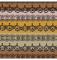 Seamless black and brown ethnic pattern vector