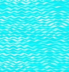 Seamless pattern of watercolor waves vector image